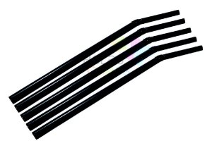 Canudo Flexível Neon Preto - 50 unidades