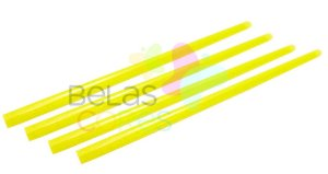 Canudo Amarelo Glitter - 150 unidades
