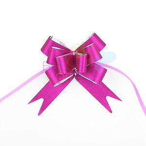 Laço Fácil Pronto Glitter Pink - 100 unidades