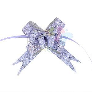 Laço Fácil Pronto Glitter Mesclado Azul - 10 unidades