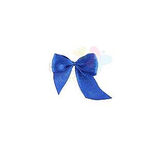 Mini Lacinho de Cetim Azul Royal - 50 unidades
