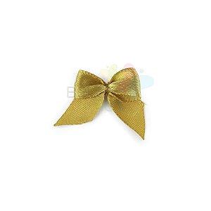 Mini Lacinho de Cetim Dourado - 50 unidades