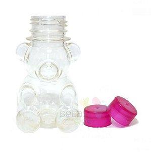Tubete/Baleiro Pet Ursinho Tampa Pink - Kit c/ 10 unidades