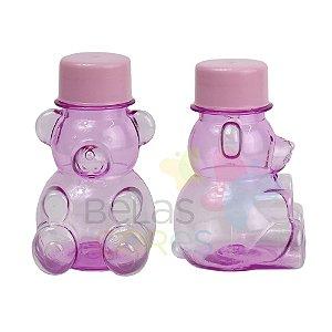 Tubete/Baleiro Pet Ursinho Rosa Tampa Rosa - Kit c/ 10 unidades
