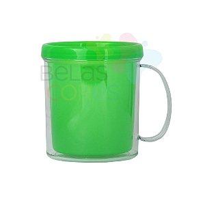 Caneca Acrílica com Rosca Verde - 10 unidades