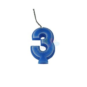 Velas de Aniversário - Numero 3