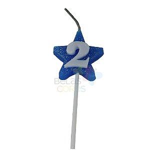 Velas de Aniversário Estrela - Numero 2