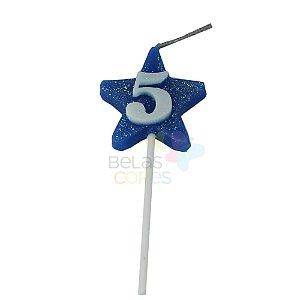 Velas de Aniversário Estrela - Numero 5
