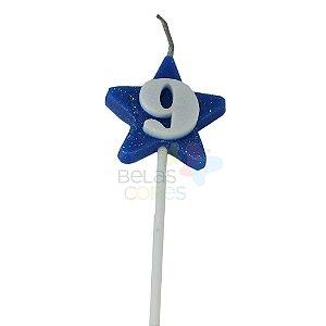 Velas de Aniversário Estrela - Numero 9