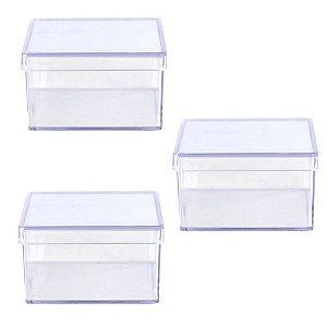 6 Caixinhas Acrílicas 7x7 x4 - Cristal/Transparente