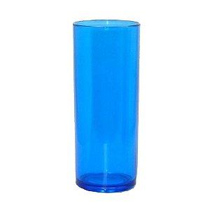 Copo Long Drink 350ml Azul - 15 unidades