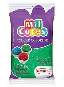 Açúcar Colorido Verde Mil Cores 80gr
