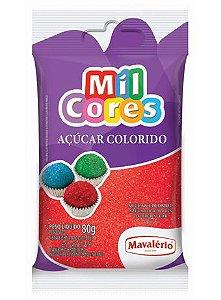 Açúcar Colorido Vermelho Mil Cores 80gr