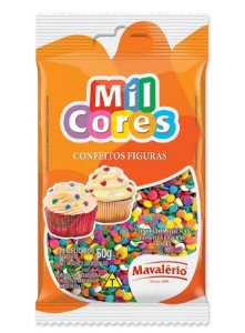 Confeito Confete Mil Cores 50gr