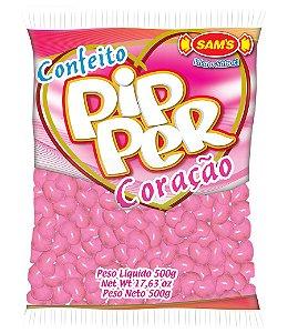 Balinhas Confeito Coração Pipper Rosa 500g