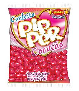 Balinhas Confeito Coração Pipper Vermelho 500g