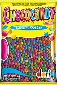 Chococandy Mini  Pastilhas Confeitadas Coloridas Sabor Chocolate Dori 500g