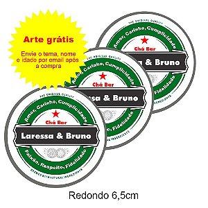 Adesivo Personalizado para Lembrancinha Redondo 6,5cm