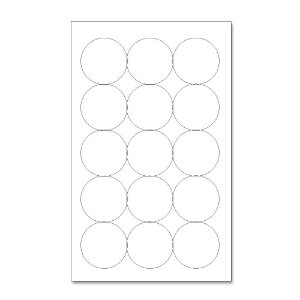 Etiquetas / Adesivos Fotográficos Brilhosa / Redondo 5,2cm - 10 Folhas (150 Adesivos)