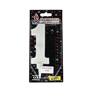 Vela Led Número 1 Alchester 10cm - 1 Unidade