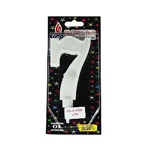 Vela Led Número 7 Alchester 10cm - 1 Unidade