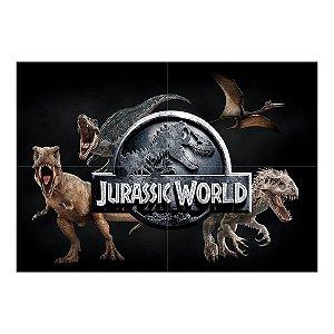 Painel de Festa Decorativo Jurassic World - 1 Unidade
