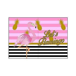 Painel de Festa Decorativo Flamingo / Abacaxi - 1 Unidade