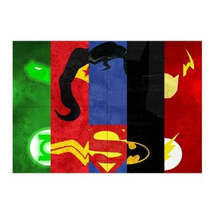 Painel de Festa Decorativo Liga da Justiça - 1 Unidade
