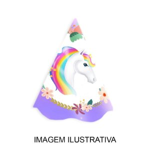 5 Chapéus de Festa Unicornio