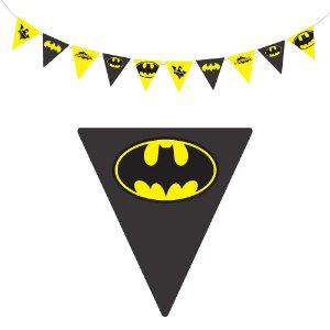 10 Bandeirolas Triangular Batman Geek