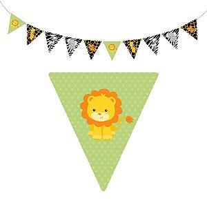 10 Bandeirolas Triangular Safari