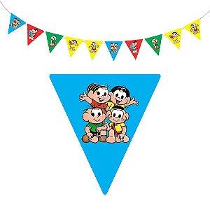 10 Bandeirolas Triangular Turma da Mônica