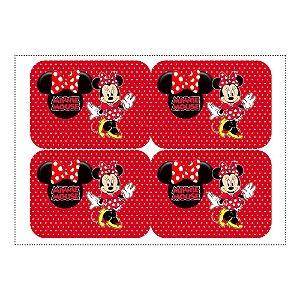 12 Adesivos Minnie Vermelha para Marmitinha 240ml