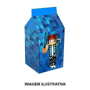 5 Caixinhas Milk Authentic Games Minecraft Para Lembrancinha