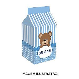 5 Caixinhas Milk Chá de Bebê Azul Para Lembrancinha