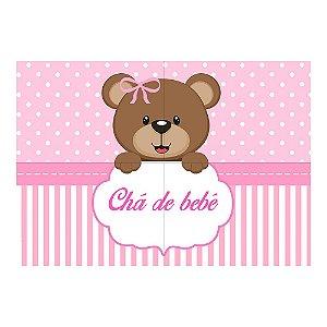 Painel de Festa Decorativo Chá de Bebê Rosa - 1 Unidade