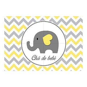 Painel de Festa Decorativo Chá de Bebê Amarelo - 1 Unidade