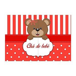 Painel de Festa Decorativo Chá de Bebê Vermelho - 1 Unidade
