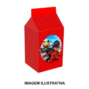 5 Caixinhas Milk Ladybug Miraculous Para Lembrancinha