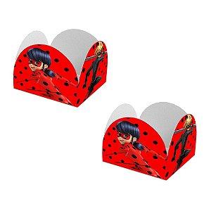 20 Forminhas de Doces Caixeta Ladybug Miraculous