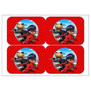 12 Adesivos Ladybug Miraculous para Marmitinha 240ml