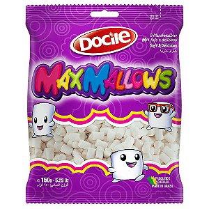 Maxmallows Marshmallow Mini Tubo Branco Docile 150g