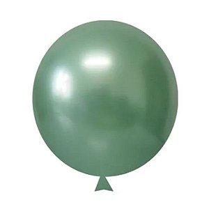 Balão / Bexiga Metalizado Alumínio Verde N°09 - 25 Unidades