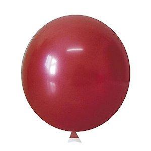 Balão / Bexiga Metalizado Alumínio Vermelho N°09 - 25 Unidades