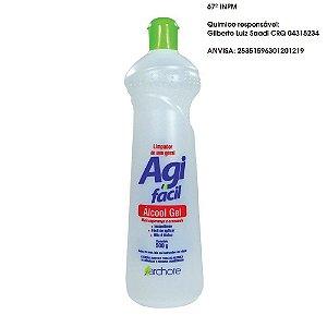 Álcool em Gel anti virus e limpeza c/ Anvisa e Químico 500ml