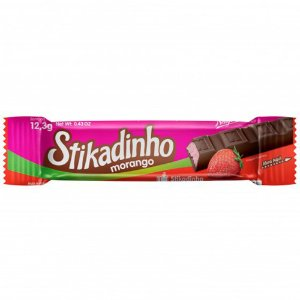 Chocolate Stikadinho Morango 12,3g - 1 Unidade