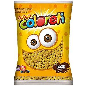 Confeito de Chocolate Coloreti Amarelo 300g