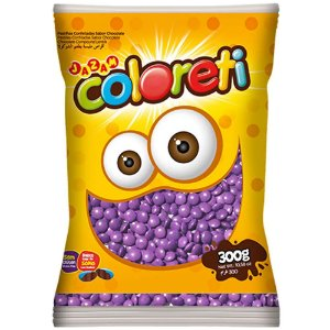Confeito de Chocolate Coloreti Lilás 300g