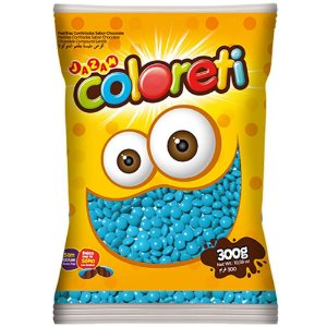 Confeito de Chocolate Coloreti Azul 300g