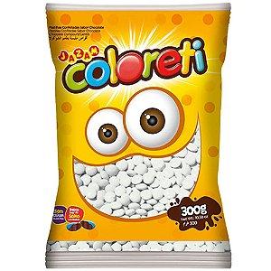 Confeito de Chocolate Coloreti Branco 300g